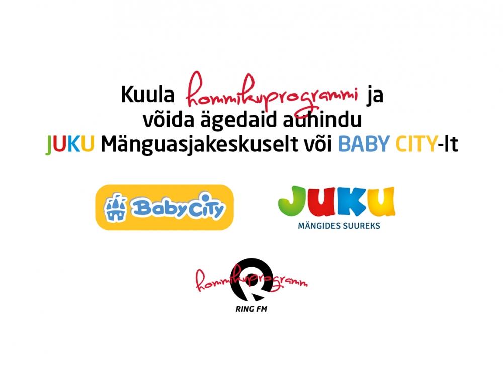 Eesti suurim mänguasjakaupluste kett Juku Mänguasjakeskus ja Hommikuprogramm kingivad iga päev ära uhkeid auhindu