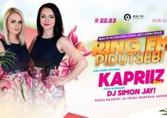 Ring FM pidutseb Võrus juba sellel reedel koos ansambliga Kapriiz!