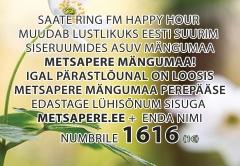 Saate Ring FM Happy Hour muudab sellel töönädalal lustlikuks Eesti suurim siseruumides asuv mängumaa - Metsapere Mängumaa!