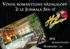 Võida romantiline nädalalõpp 2-le Jurmala Spa-s!