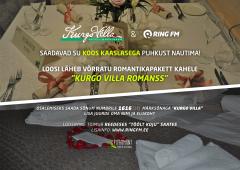 Ring FM ja Kurgo Villa loosivad välja puhkuspaketi Kurgo Villa Romanss!