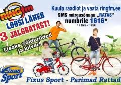 Ring FM ja Fixus Sport jagavad rattaid!