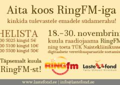 Lastefondi ja Ring FMi ühine heategevuskampaania!
