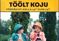 Töölt Koju loosib sellel töönädalal välja sõnumisaatjate vahel 20€ kinkekaarte cosykids.ee veebipoodi.