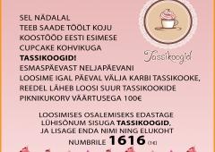 Sel nädalal teeb saade 'Töölt koju' koostööd Eesti esimese Cupcake kohvikuga, TASSIKOOGID.